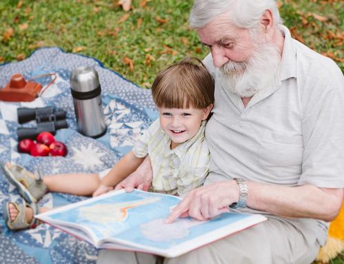 Actividades de interacción entre niños y abuelos